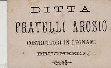 #BRUGHERIO: biglietto di presentazione -DITTA FRATELLI AROSIO- LEGNAMI..