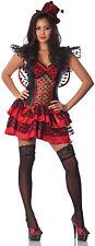 LITTLE RED BUG Costume Dress w Black Net Trim Wing Hat Adult Medium Large 6 8 10