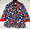 Alfred Dunner 18 1X 2X Blouse Shirt Top Vibrant Floral Watercolor Flip Cuff