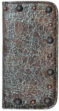 LEATHER WESTERN CELL PHONE CASE IPHONE 6 TURQUOISE & BROWN COWGIRL PHONE CASE