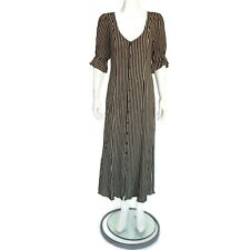 Christy Dawn Lola Dress Black Stripe size Large $288 Womens / 20437