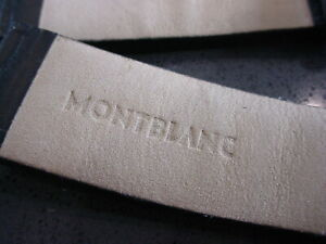 MENS 22mm MONTBLANC LEATHER WATCH STRAP
