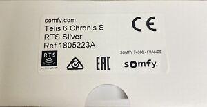 Somfy Telis 6 Chronis S RTS Silver 1805223A Neu Und Ovp!