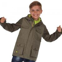 REGATTA BOYS SCARPER WATERPROOF BREATHABLE RAIN COAT JACKET KIDS AGE 5-12YRS