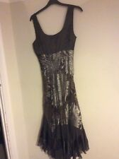 Designer dress - New With Tags-.Size 12 /cream silk mix party occasion