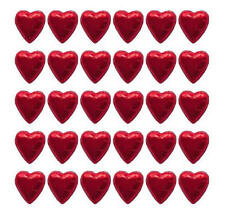 100 IN CADBURY CHOCOLATE HEARTS RED-WEDDING VALENTINE'S DAY CHRISTMAS GIFTS