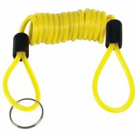Motorcycle Motorbike Disc Lock Spring Reminder Quad Cable High Visibility Cord