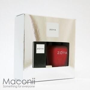 Zoya Midnight Kiss Set - Amal Matte Red Nail Polish Matte Velvet Red Lipstick
