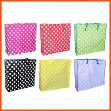 24 X Jumbo Coloured Polka Dot Series ZIPPER Bags 85 X 60 Cm | Home Organisation