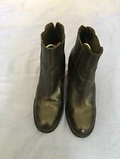 Topshop Women Black Leather Ankle Boots  Size 6/39 (11C)