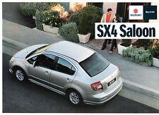 Suzuki SX4 Saloon 1.6 2010-11 UK Market Leaflet Sales Brochure