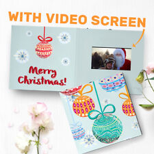 "Video Holiday Greeting Card - Christmas Greeting Card - 4.3"" LCD Color Video"