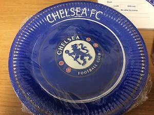 CHELSEA FOOTBALL BIRTHDAY PARTY SET Official Product Plates Invitations DISCOUNT