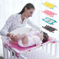 Baby Diaper Changing Table For Infant Bed Safe Belt Foldable Nursing Pad Cover