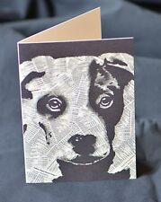 Dog Greeting Card - Terrier, Hound, Pets, Collage, Newspaper, PopArt, Art Cards