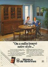 Publicité 1981  Moreux de Varennes Magasin de meubles