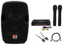 "Rockville Pro Powered 8"" Karaoke Machine/System 4 ipad/iphone/Android/Laptop/TV"