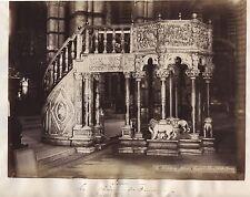 Sienne Siena Intérieur Duomo Italie Italia Photo Lombardi Vintage albumine
