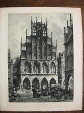 HERMANN BRAUN 1862-1908 PORTA WESTFALICA RATHAUS PRINZIPALMARKT MÜNSTER; UM 1900