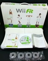 Wii Fit Game + Instruction Booklet + Balance Board RVL-021 Nintendo Fitness