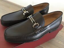650$ Bally Brown Terenz Leather Loafers Size US 10.5 Made in Switzerland