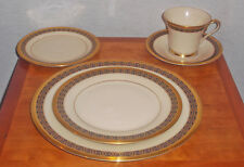 RARE!! DISCONTINUED LENOX CHINA TUDOR PATTERN 5 PIECE PLACE SETTING NEW