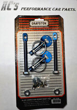 Alloy Competition Quick Release Bonnet Pin Kit - BLUE -High Tensile Alu. (GE52B)