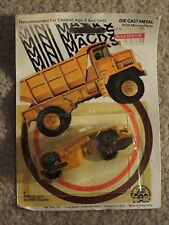 Zee Toys Die-Cast Mini Macks Construction Road Grader Scraper 1981 MOC