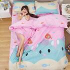 Single Double Queen King Bed Set Pillowcase Quilt Duvet Cover Cute Cat Kitty L