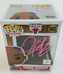 Dennis Rodman Autographed Signed Chicago Bulls Funko Pop Vinyl Figurine JSA COA