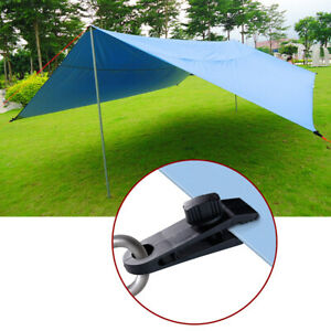 FANCYLEO EU 12pcs Tarp Clips Heavy Duty Tarp Clips Lock Grip Awning Clamp Thumb Screw Tent Clip for Holding Up Tarp Car Cover Canopy Boat Cover and Pool Cover Sun Shade