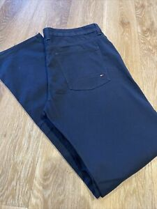 TOMMY HILFIGER 38W 34L Navy Mens DENTON Straight Fit Stretch Jeans Chino NEW