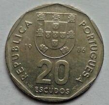 1986 20 escudos Portugal Moneda Republica Portuguesa Moneda
