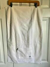 Lululemon Action Gym Workout Yoga Towel with Pocket Zipper Off White Cotton