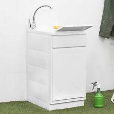 Lavatoio lavanderia esterna 45 x 50 cm con 1 anta vasca e asse lavapanni