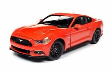 2016 Ford Mustang, Red - Auto World AW242 - 1/18 Scale Diecast Model Toy Car