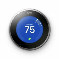 Nest Learning Thermostat Stainless Steel (3rd Generation)