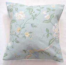 "16"" Laura Ashley 'Summer Palace' Eau De Nil Floral fabric cushion cover"