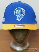 NEW NFL Los Angeles Rams New Era 9FIFTY Throwback Classic Logo Snapback Hat Cap
