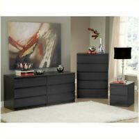 Tvilum Scottsdale 5 Drawer Chest in Black Woodgrain