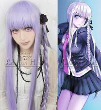 Danganronpa Dangan Ronpa Kyoko Kirigiri Kyouko Cosplay Wig Purple Hair Wigs +Cap