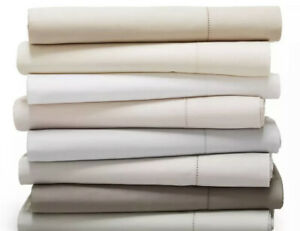 Hudson Park 600TC 100% Cotton Solid Twin Fitted Sheet $120 Pumice..