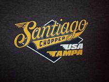 SANTIAGO Chopper USA Triumph gray M t shirt
