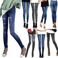 Mujer Sexy Vaqueros Delgados Elástico Jeggings Skinny Pitillo Pantalones