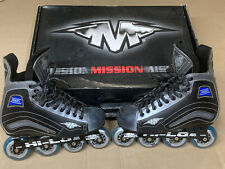 Mission A50 Adult Inline Hockey Skates Size 9 HiLo Roller Blades Fast Shipping!!