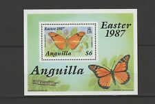 Anguilla  bloc faune insecte papillon 1987  num 79 **
