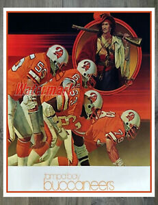 Vintage NFL Tampa Bay Buccaneers Color Poster Print 8 X 10 REPRINT Photo Picture