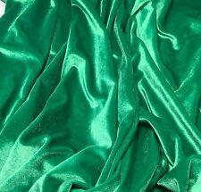 KELLY GREEN - Stretch VELVET Fabric 1/4 yard remnant