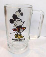 Minnie Mouse Heavy Clear Glass Mug       *C3