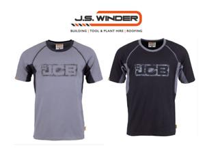 JCB trade t-shirt black/grey and grey/black